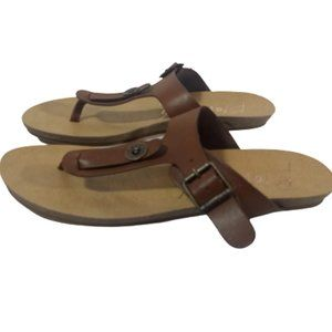 Blowfish Thong Sandals Brown Leather 8